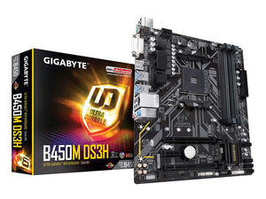 GIGABYTE B450M DS3H AM4 AMD B450 SATA 6Gb/s USB 3.1 HDMI Micro ATX AMD Motherboard