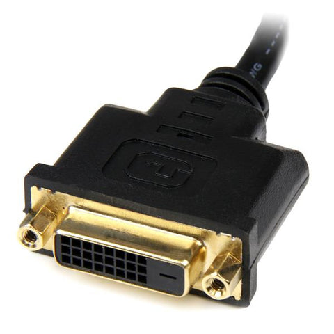 StarTech.com HDDVIMF8IN 8in HDMI to DVI-D Video Cable Adapter - HDMI Male to DVI Female HDDVIMF8IN