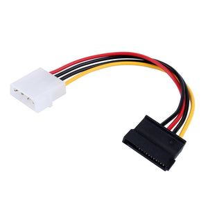 "BattleBorn 4"" 4-Pin Molex Power to 15-Pin SATA Power Adapter Cable"