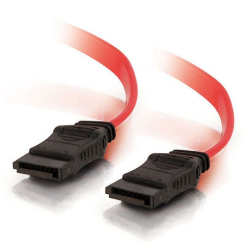 "Image of C2G 10152 18"" 7-pin 180-degree Serial ATA Cable (SATA)"