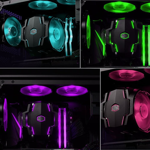 MasterAir MA610P RGB CPU Cooler 6 CDC Heatpipes, MasterFan 120mm RGB, Intel/AMD by Cooler Master