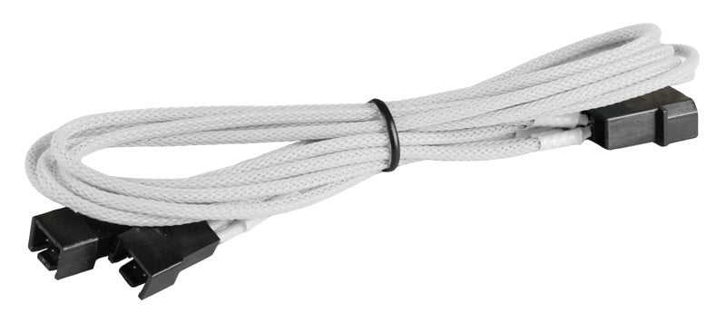 BattleBorn CB-33F12V White Molex to 2 x 3pin Cable - Braided Sleeve