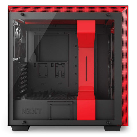 NZXT H700 - ATX Mid-Tower PC Gaming Case - Tempered Glass Panel - Enhanced Cable Management System - BlackRed