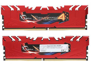 Gskill F4-2400C15D-16GRR G.SKILL Ripjaws 4 16GB 2x8GB DDR4 PC4-19200 RAM Kit