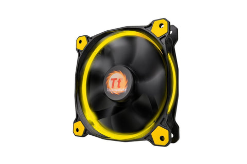 Thermaltake Riing 12 Series High Static Pressure 120mm Yellow LED Ring Fan CL-F038-PL12YL-A