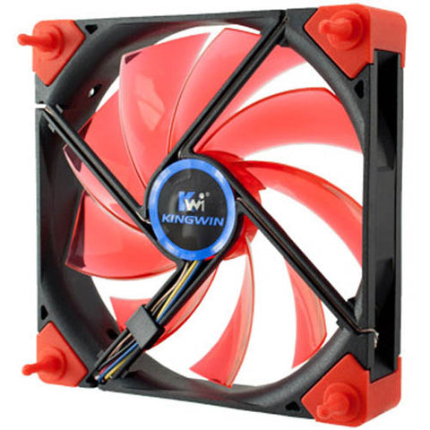 Image of Kingwin DB-124 Duro Bearing 120mm Red Blade / White LED Case Fan