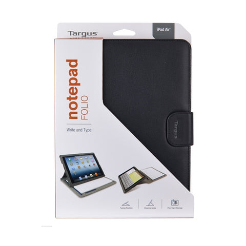 Image of Targus THZ187US Notepad Faux Leather Folio For iPad Air (Black)