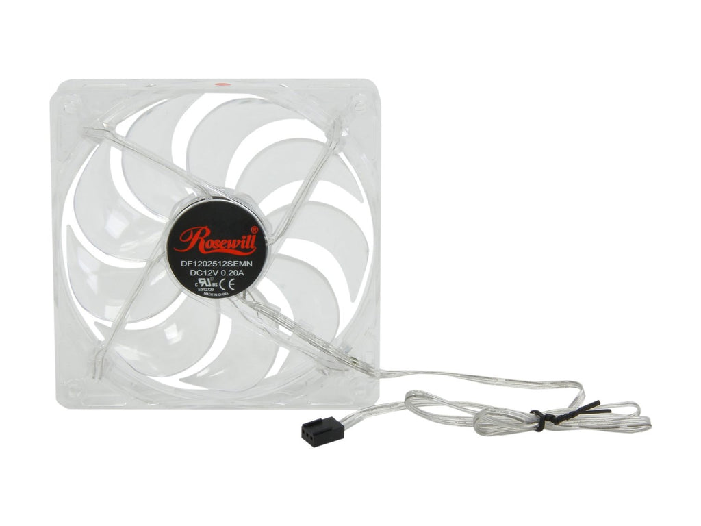 Rosewill 120mm 4 Red LED Computer Case Cooling Fan
