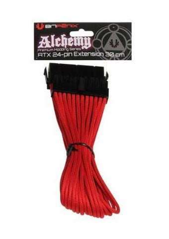 Image of Battleborn Red Cb-24Atxext 24 Pin Atx Cable 300Mm - Red