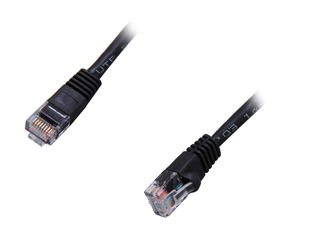 Coboc CY-CAT5E-01-BK 1ft 24AWG Snagless Cat 5e Black Patch Cord