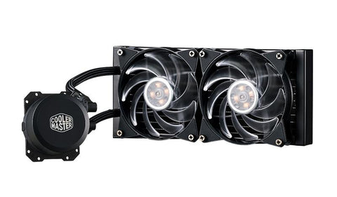 MasterLiquid Lite ML240L RGB All-in-one CPU Liquid Cooler with Dual Chamber Pump by Cooler Master