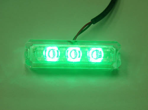 Logisys MD5GN 12V Water Green Resistant Triple LED Light