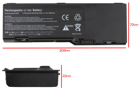 High Capacity Laptop Battery for Dell Inspiron 6400 1501 E1505 7800mAh