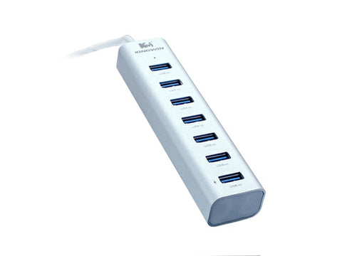 Kingwin KWZ-700 Aluminum 6-Port USB 3.0 Hub +1 IQ Smart Charging Port