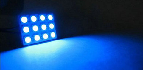 Image of SCP Blue 12-Led Interior Dome Car 5050 Smd Light Bulb