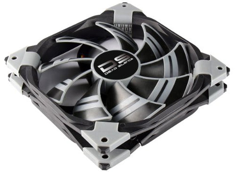 AeroCool DS-120mm Black Dual Layered Noise / Shock Reduction Fan