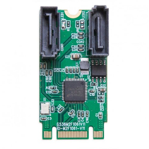Syba SI-ADA40126 M.2 B+M Key 22x42 PCIe To 2 Port SATA III RAID Adapter Card