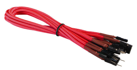 Image of BattleBorn Front Panel Braided Cable Set (Red Braided)