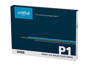 Crucial P1 500GB 3D NAND NVMe PCIe M2 SSD - CT500P1SSD8