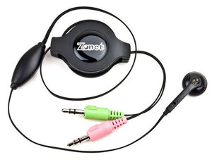 Zonet ZSY5110 Retractable Sky Headset with Built-in Microphone