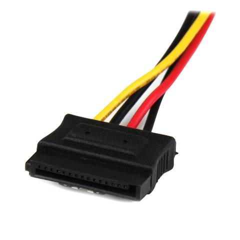 StarTech.com 12in LP4 to 2x Latching SATA Power Y Cable Splitter Adapter - 4 Pin Molex to Dual SATA PYO2LP4LSATA
