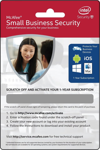 Mcafee Small Business Security 1yr BKCMSSB1YRENG