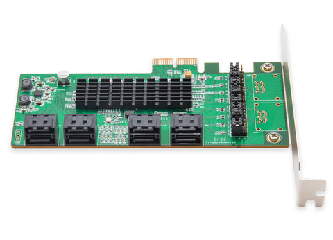 Image of Syba 8-port SATA 6bps PCI Express 2.0 x2 Bus Raid Controller Card