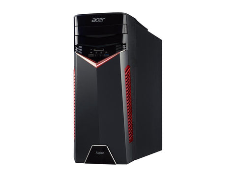 Image of Acer Aspire GX-281-UR16 Ryzen 5 1400 (3.20 GHz) 8 GB DDR4 1 TB HDD 256 GB SSD GTX1050 Win 10 Home 64 Desktop Computer