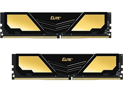 Team TPD416G2400HC16DC01 Elite Plus 16GB (2 x 8GB) DDR4 2400 (PC4 19200) Memory - Black/Yellow