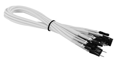 BattleBorn Braided White Front Panel Header Cable Kit