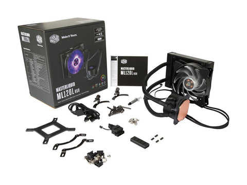 Cooler Master MasterLiquid ML120L RGB All-in-one CPU Liquid Cooler with Dual Chamber Pump Latest INT
