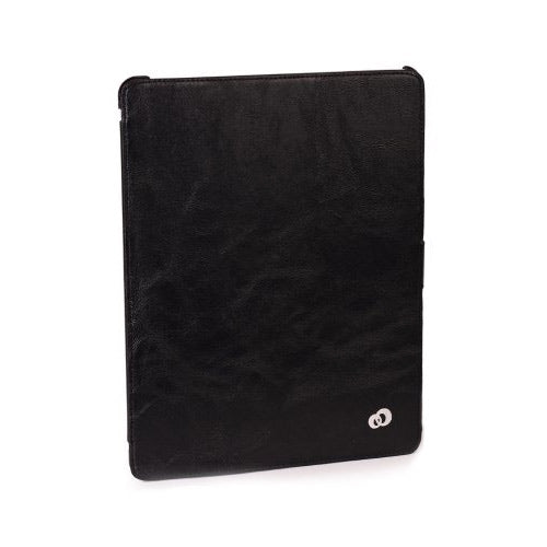 Kroo MIA3SHK1 Black Leather Venice Shell New iPad Case