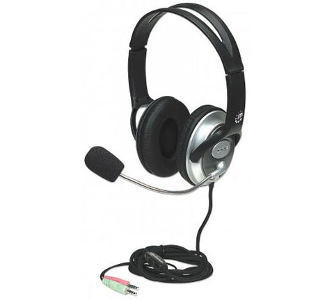 Manhattan 175555 Classic Stereo Headset with Flexible Microphone Boom
