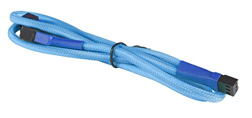 "BattleBorn 3-Pin Fan ""Y"" Splitter Braided Cable (Light Blue)"