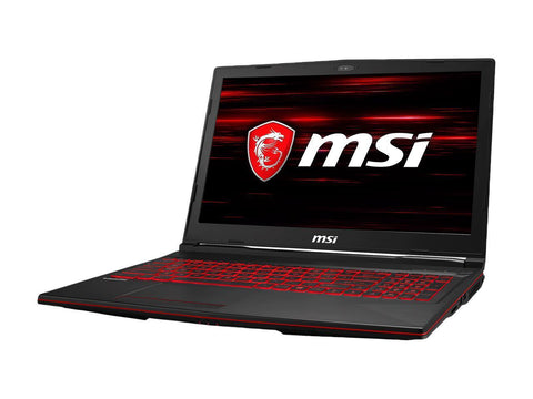 Image of MSI GL63 8RC-077 Gaming Laptop 15.6 IPS Intel i5-8300H (2.30GHz) GTX1050 8GB RAM, 128GB SSD, 1TB HDD, Win 10Home