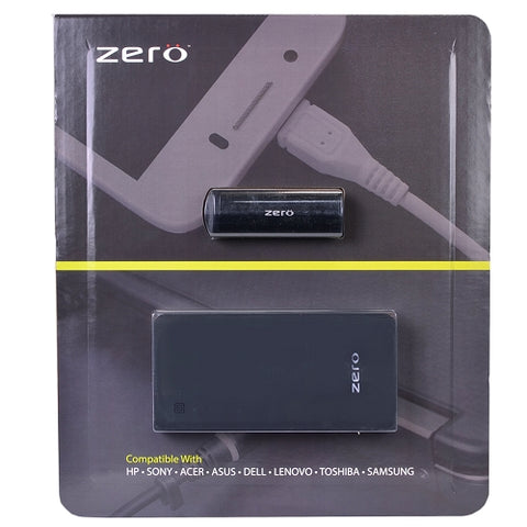 Zero Portable Laptop Battery Pack Power Bank (15000mAh) with Bonus Mini Power Bank - Charge your Laptop, Tablet, Phone!
