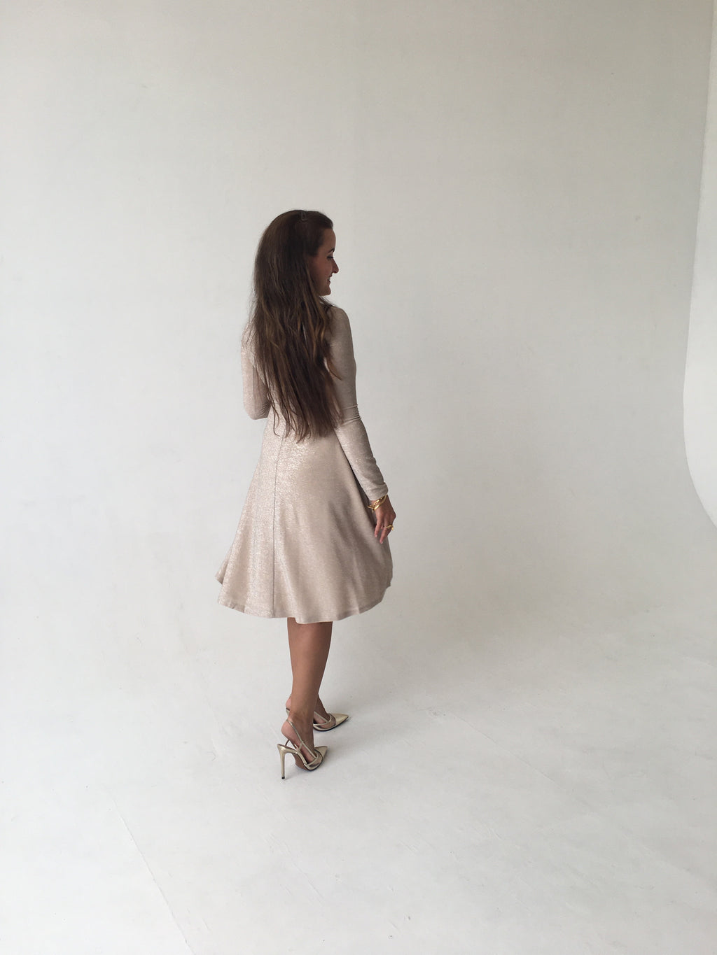 Shimmer Neutral Dress
