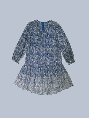 Print Ruffled Dress
