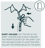 Hide-A-Mic Shirt Holder for DPA - Stickman Sound