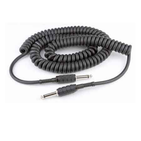 "Lectrosonics MC16C 16' 1/4"" Phone Male to 1/4"" Phone Male Coiled Mic Cord - Stickman Sound"