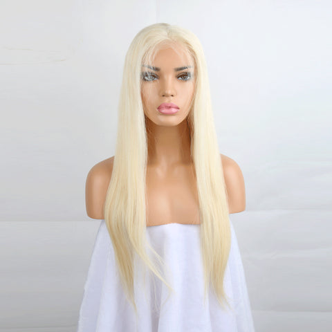#613 Blonde Lace Front Wig Straight Brazilian 130%