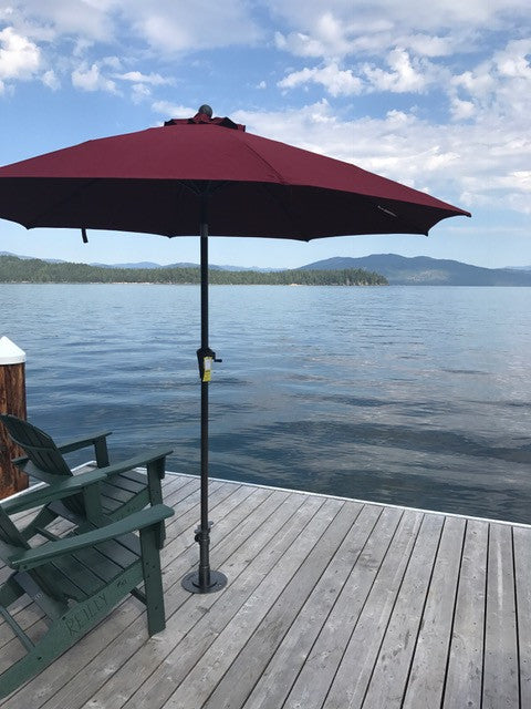 Custom J-Hook Umbrella Base for Oversize Joists Priest Lake, Idaho