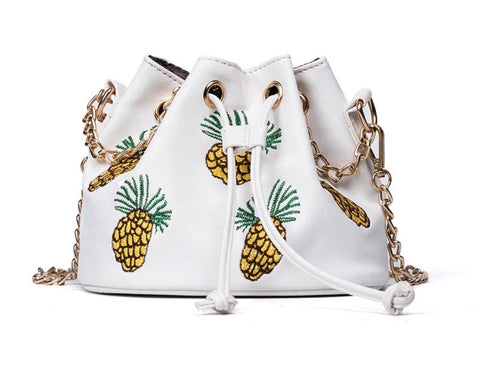 Pineapple Leather Embroidered Tote Bag
