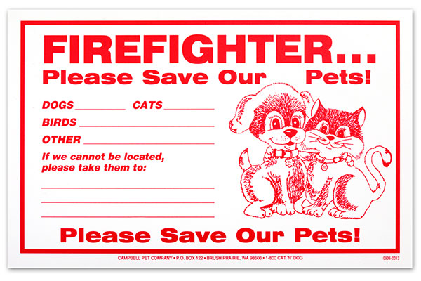 "Firefighter Signs (5"" x 8"")"