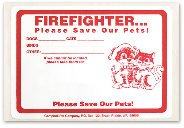 "Firefighter Stickers (3"" x 4"")"