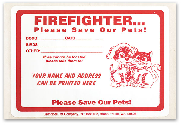 Personalized Firefighter Stickers