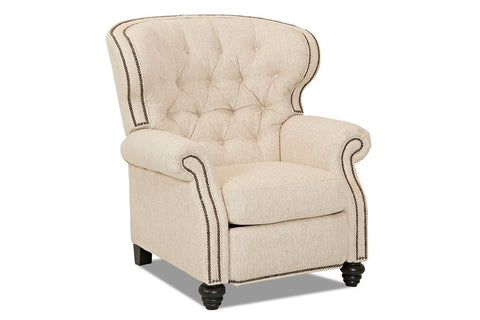 Arthur Chesterfield Tufted Fabric Recliner