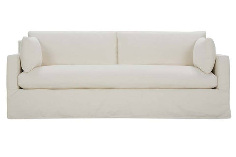 Liza Quick Ship Bench Seat Slipcovered Sofa