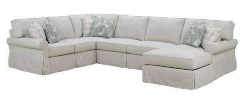 Noreen Casual 3-Piece Deep Seat Slipcovered Sectional