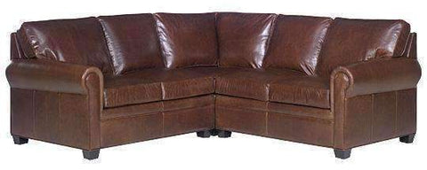 Rockwell Traditional Three Piece Leather Sectional